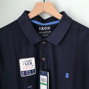NWT Men's Polo Large Navy IZOD